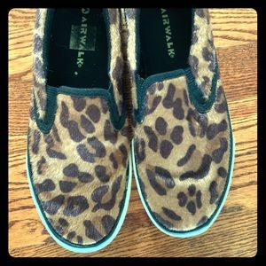 Airwalk leopard print slip on sneakers